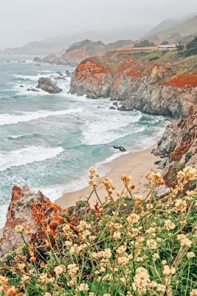 Coast line of Big Sur in Northern California Road Trip itinerary