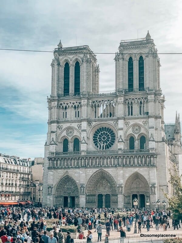 Notre Dame Cathedral in Paris before the fire outbreak