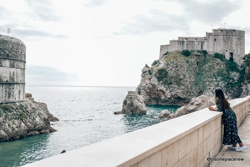 Enjoying quiet moment in Dubrovnik Croatia in March