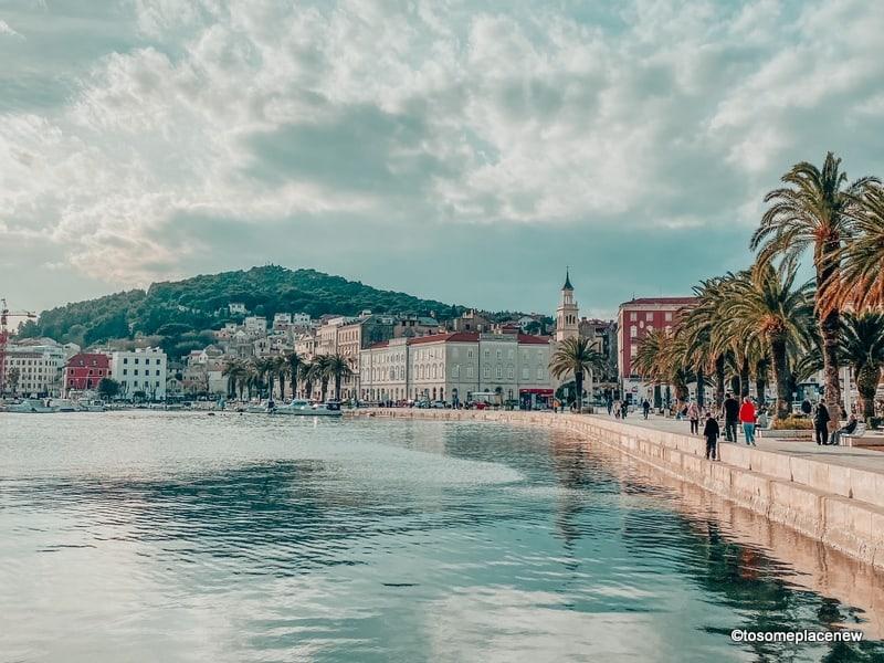 Rive Promenade in Split in March (evening)