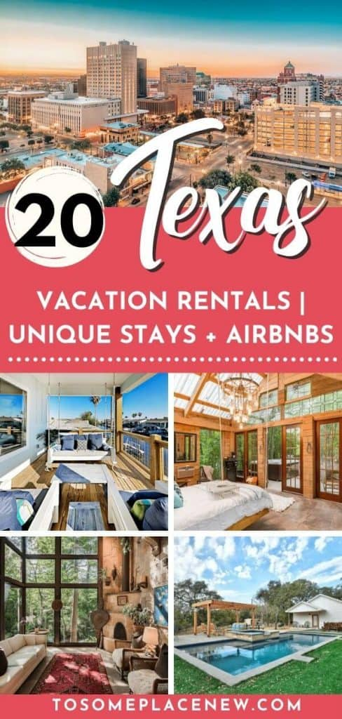 Best Texas Airbnbs  Discover the best Airbnbs in Texas from treehouses, fancy lofts, cabins, and more. Coolest Airbnbs in Texas for couples getaways, family vacation or get to gathers. Find unique Airbnbs in Texas for your upcoming trips. Best Airbnbs Texas. Texas travel tips