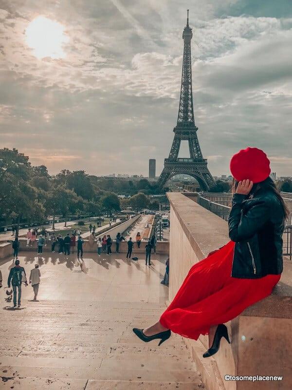 Girl in Paris Trocadero Gardens