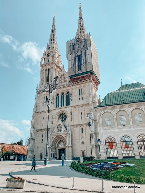 Zagreb Cathedral in Croatia in March