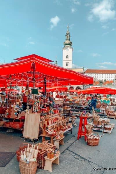 Dolac Market Zagreb Croatia in March