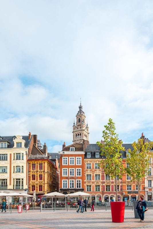 View of Lille downtown - best cities to visit in France