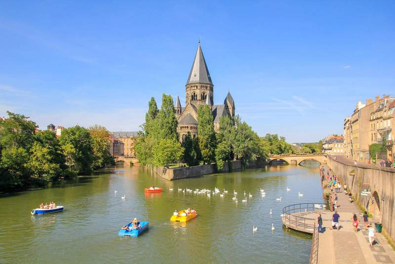 View of Metz on a warm day