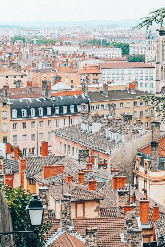 Panoramic view of Lyon in France