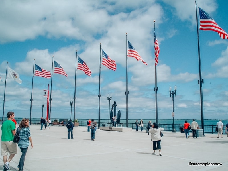 view of Navy Pier Chicago USA