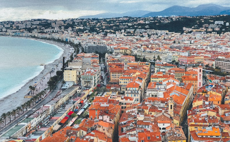 View of Nice in France