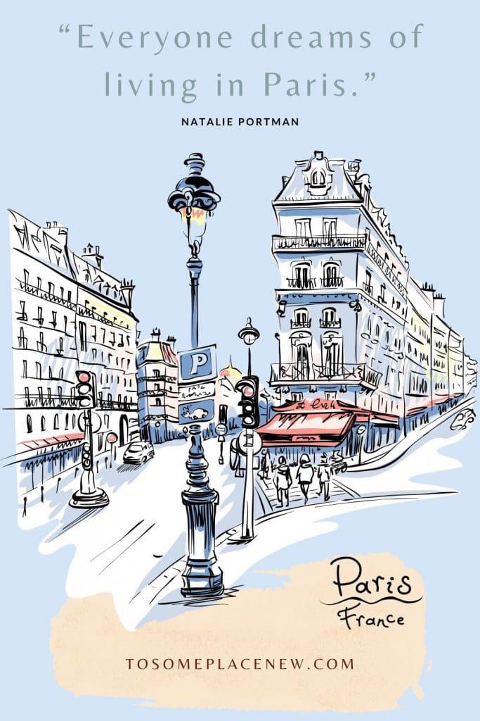 Paris lanes illustrated