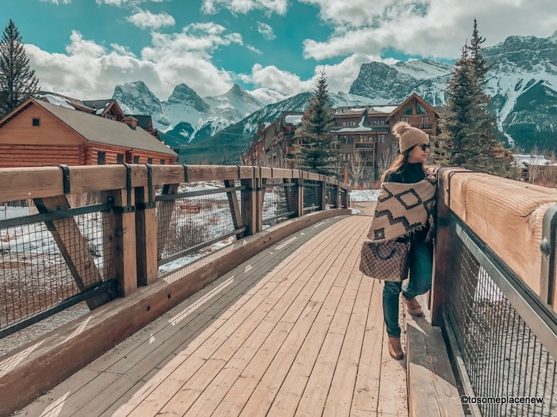 View of town of Canmore Kananaskis Country