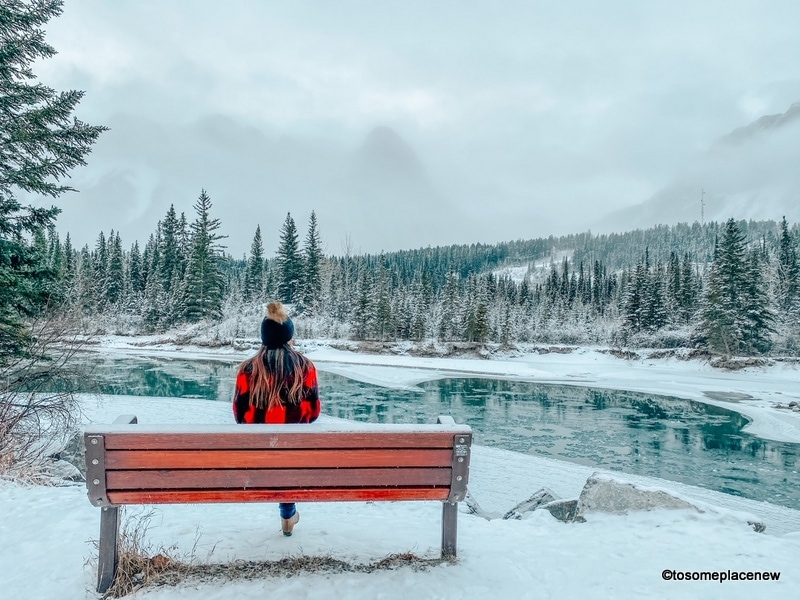 Bow River Loop in the winter