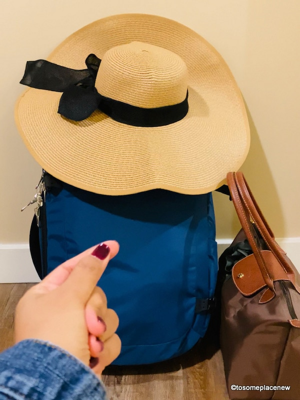 Packing with a carry on backpack and tote