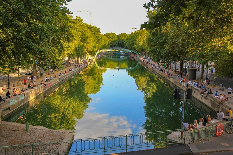 View of Canal Saint Martin