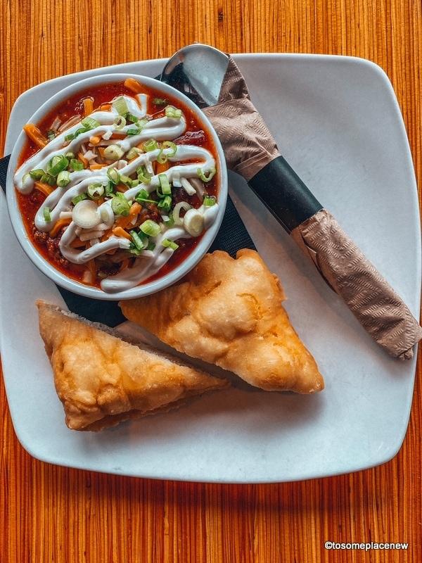 Warm chili and bannock - SLCC Thunderbird Cafe