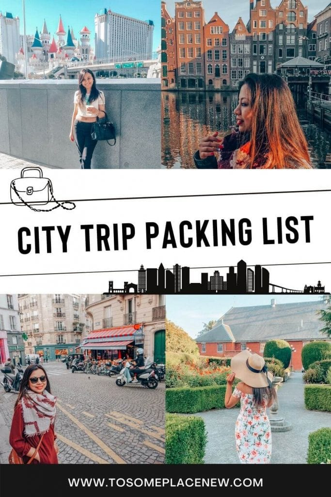 Pin for city weekend packing list