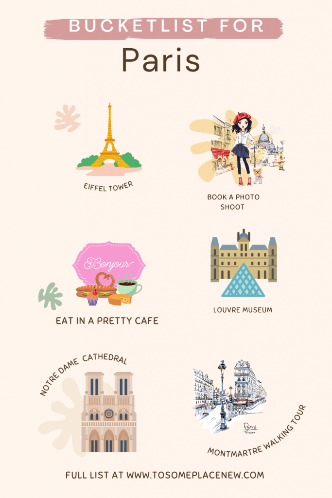 Bucket list for Paris
