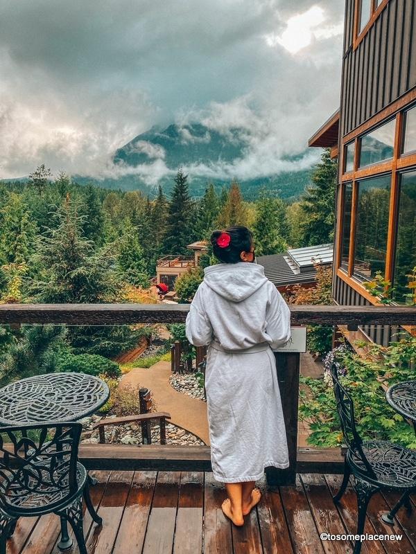 Inside Scandinave Spa Whistler