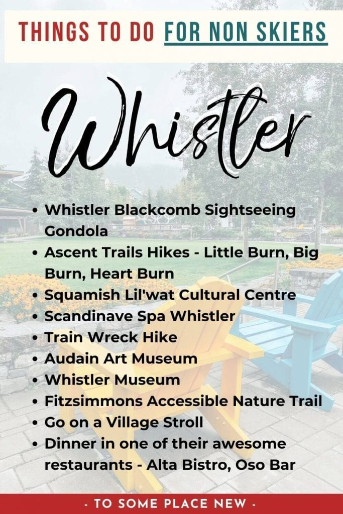 Pin for Things to do in Whistler for non skiers