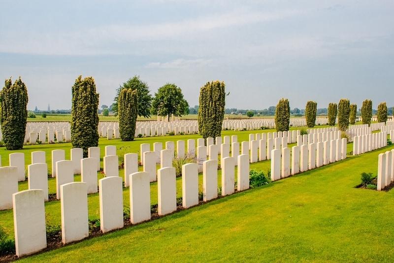 WWI Cemetery in Ypres Belgium