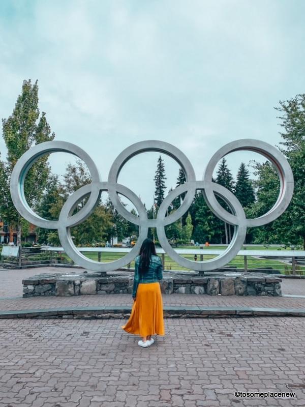 Girl at Whistler Olympics Plaza