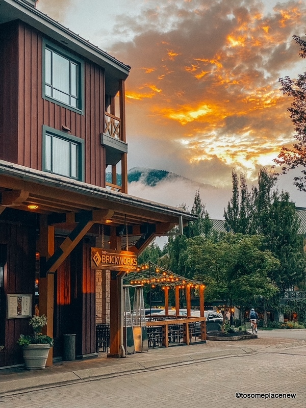 Whistler Village in the evening