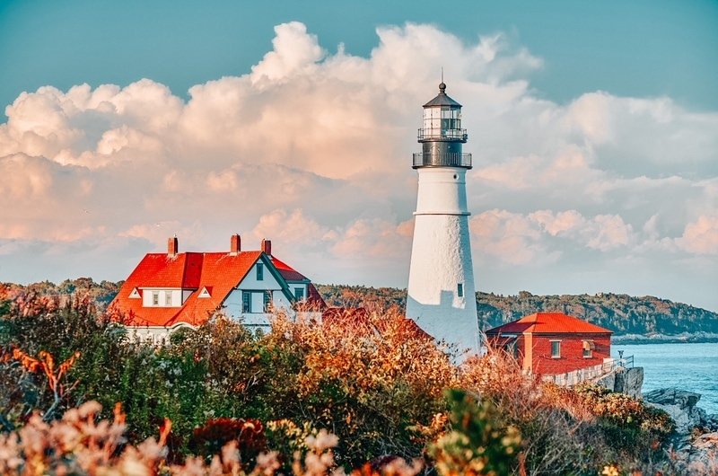 Cape Elizabeth in Maine, one of the prettiest states in the US