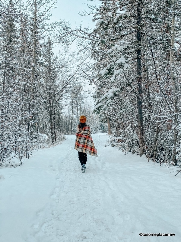 Layer on to enjoy winter trips (thermal top, leggings, boots, scarf, beanies)