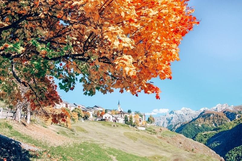 Guarda, Lower Engadine, Graubünden, in Switzerland