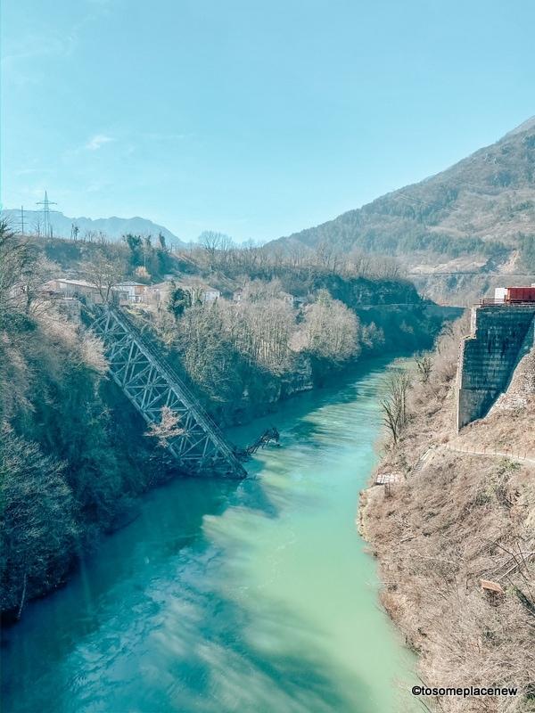 Damaged bridge in Jablanica