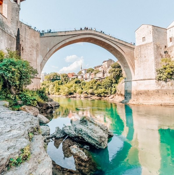View of Mostar. Most beautiful places in Bosnia and Herzegovina