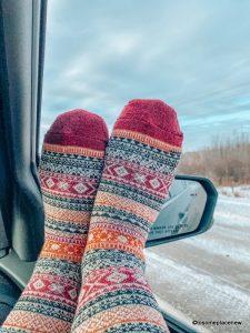 Nordic inspired socks in the winter